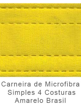 Caneira de Microfibra Simples 4 Costuras Amarelo Brasil