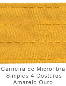Caneira de Microfibra Simples 4 Costuras Amarelo Ouro