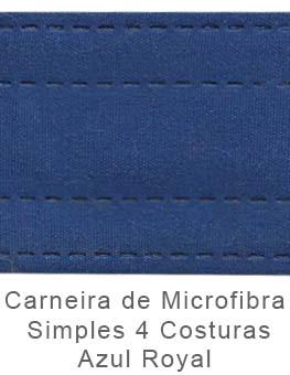 Caneira de Microfibra Simples 4 Costuras Azul Royal
