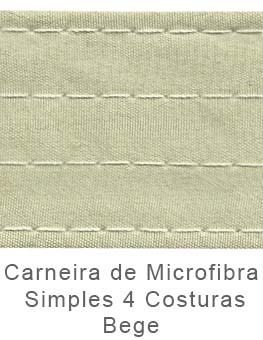 Caneira de Microfibra Simples 4 Costuras Bege