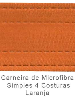 Caneira de Microfibra Simples 4 Costuras Laranja