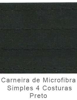 Caneira de Microfibra Simples 4 Costuras Preto