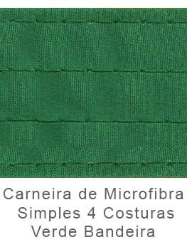 Caneira de Microfibra Simples 4 Costuras Verde Bandeira