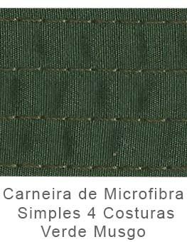 Caneira de Microfibra Simples 4 Costuras Verde Musgo