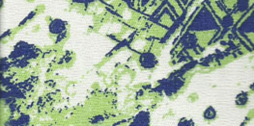 Brimcom Elastano Estampa Verde e Azul