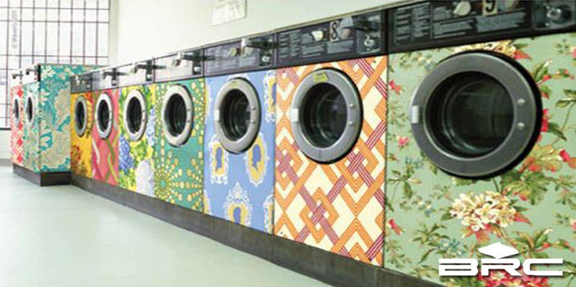 Decoupage com tecido em eletrodomésticos